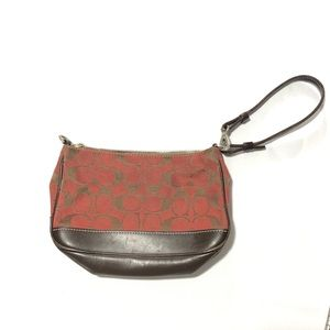 Coach Brick Brown Wristlet